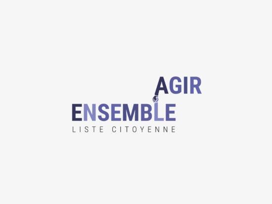 Logo en quadrichromie d'Agir Ensemble